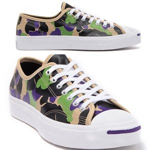 Converse Jack Purcell Ox Low Top Leather Camo Shoe